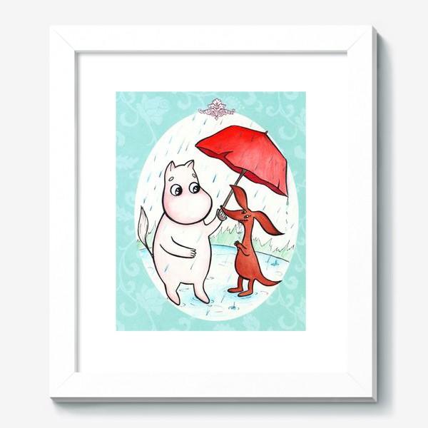 Картина «Муми-тролль и дождь»