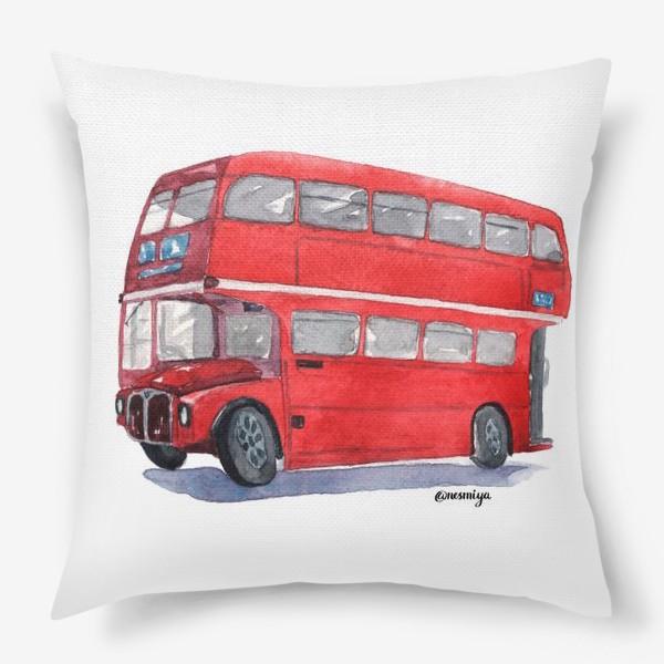 Подушка «Лондонский автобус»