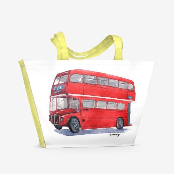 Пляжная сумка «Лондонский автобус»