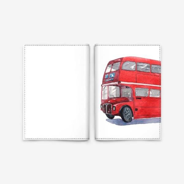 Обложка для паспорта «Лондонский автобус»
