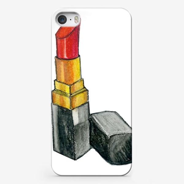 Чехол iPhone «Красная помада»