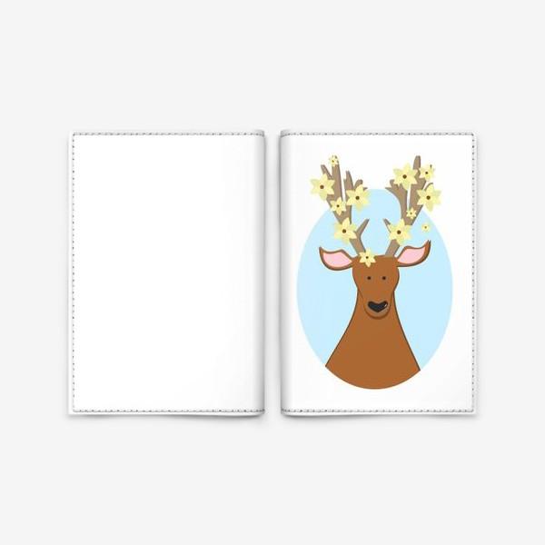 Обложка для паспорта «Цветы в голове »