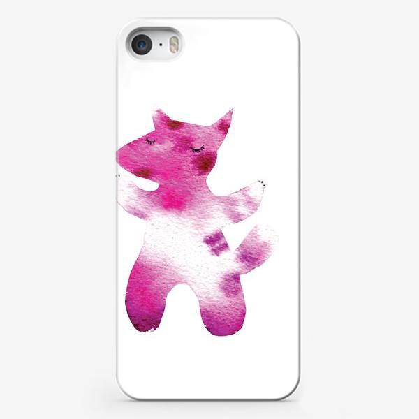 Чехол iPhone «Розовый волчок»