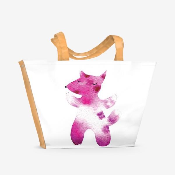 Пляжная сумка «Розовый волчок»