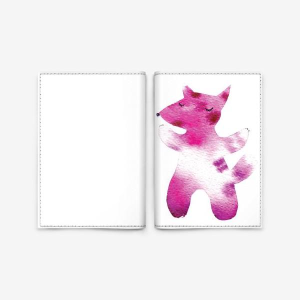 Обложка для паспорта «Розовый волчок»