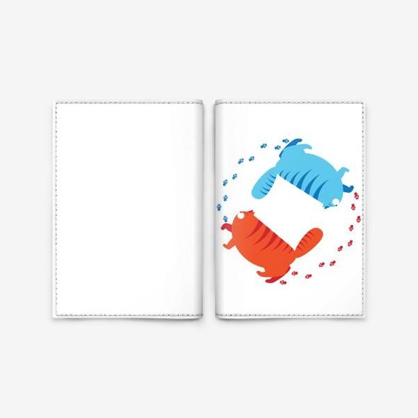 Обложка для паспорта «толстые коты»