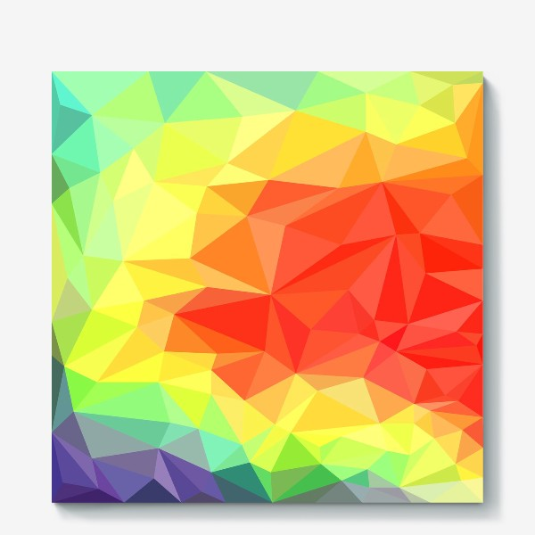 Холст «Polygonal Rainbow »
