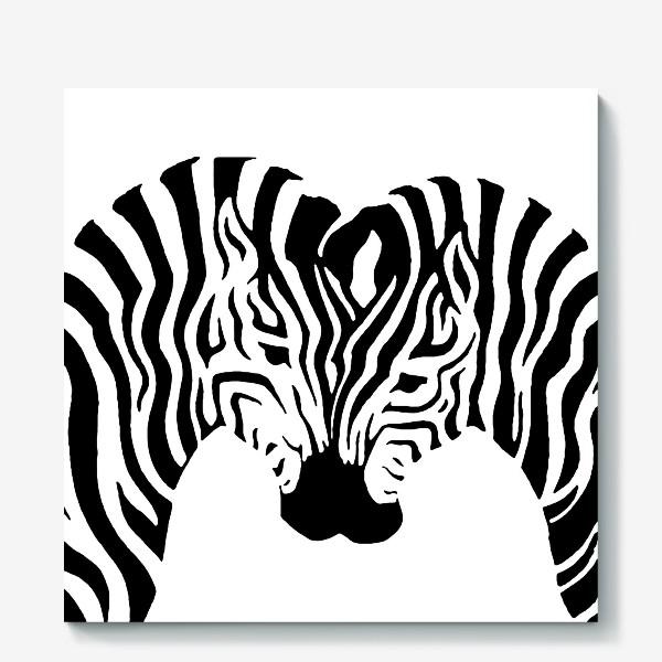 Холст «Зебры »