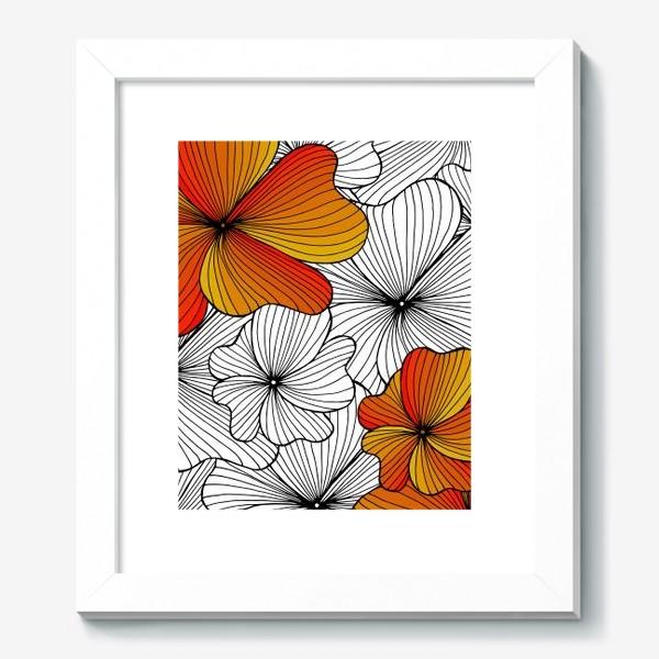 Картина «Осенние оранжевые цветы»