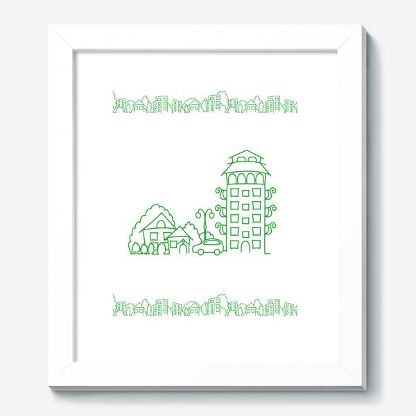 Картина «Город. Коттедж»