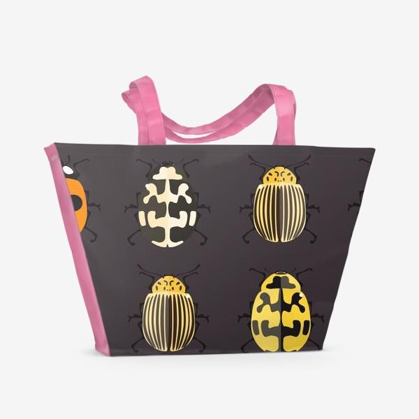 Пляжная сумка «Цветные жуки»