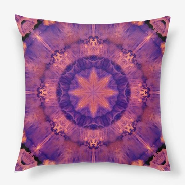 Подушка «Purple Mandala 3»