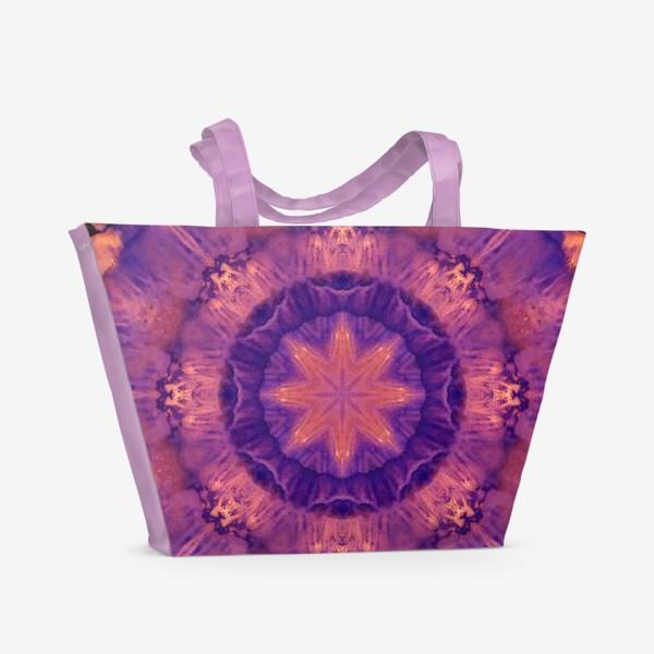 Пляжная сумка «Purple Mandala 3»