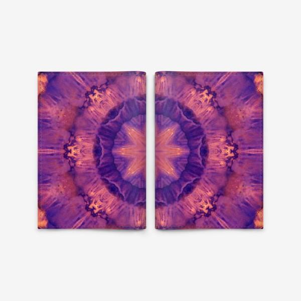 Обложка для паспорта «Purple Mandala 3»
