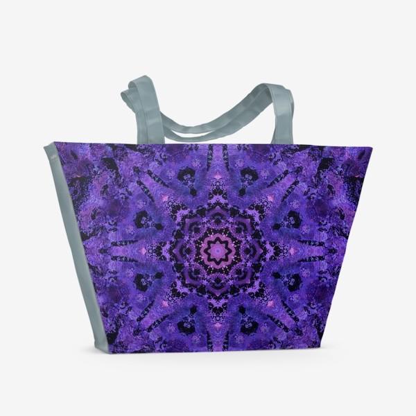 Пляжная сумка «Purple Mandala 2»