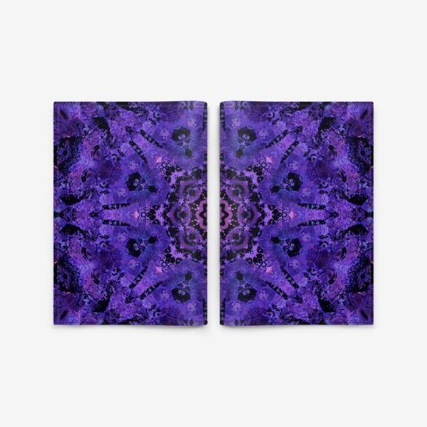 Обложка для паспорта «Purple Mandala 2»