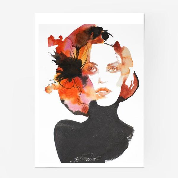 Постер «Черный цветок»