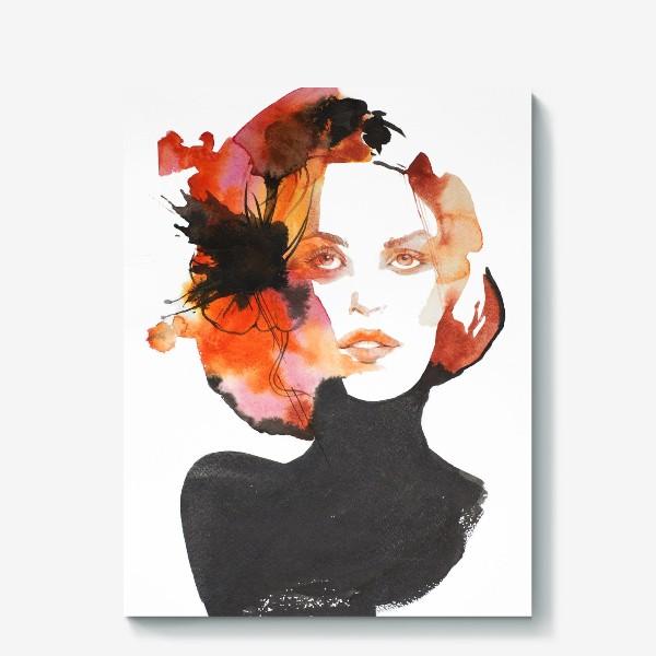 Холст «Черный цветок»