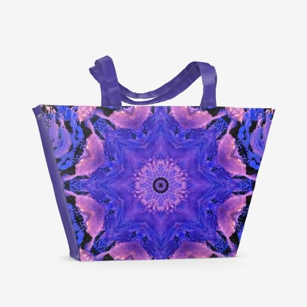 Пляжная сумка «Purple Mandala 1»