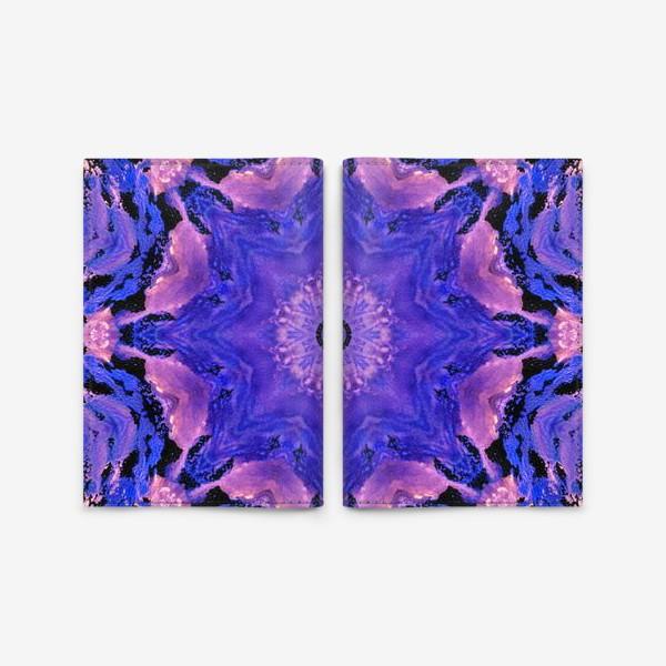 Обложка для паспорта «Purple Mandala 1»