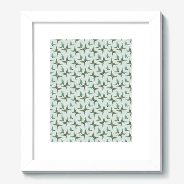 Картина «Бабочки. Зеленый паттерн»