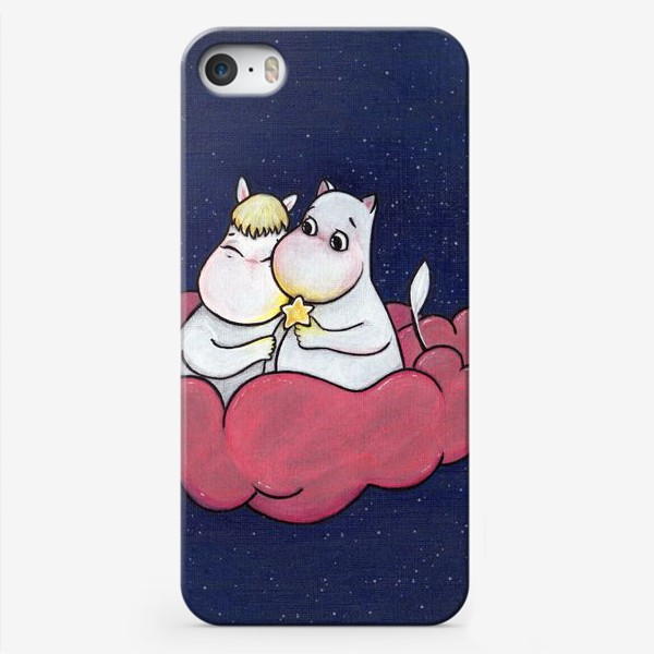 Чехол iPhone «Муми-тролли на облаке»