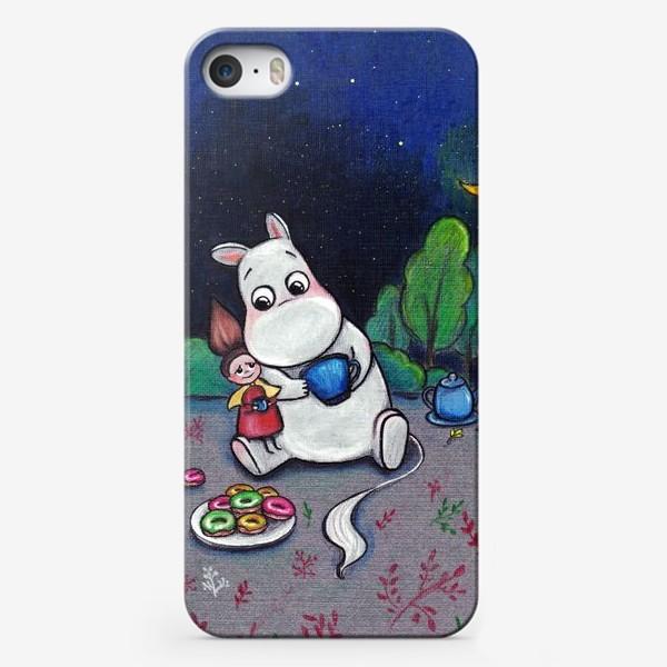 Чехол iPhone «Ночное чаепитие с Муми-троллем»