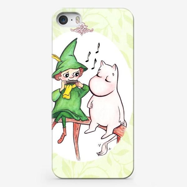 Чехол iPhone «Снусмумрик и Муми-тролль»