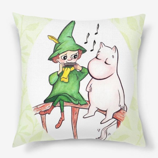 Подушка «Снусмумрик и Муми-тролль»