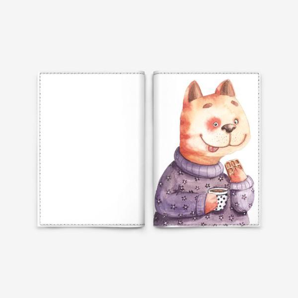 Обложка для паспорта «Кот с вафелькой»