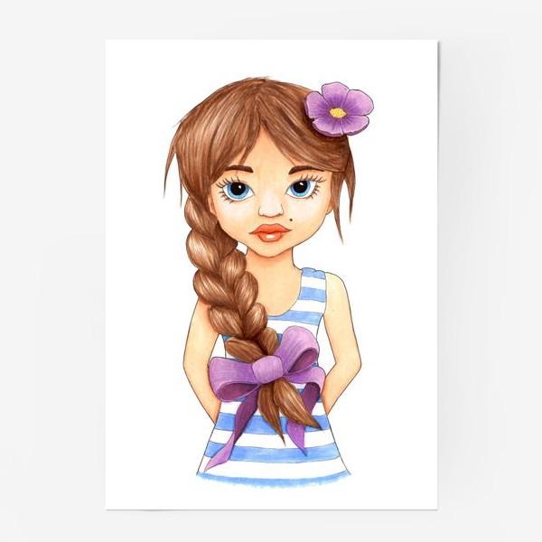 Постер «Девочка с косой»