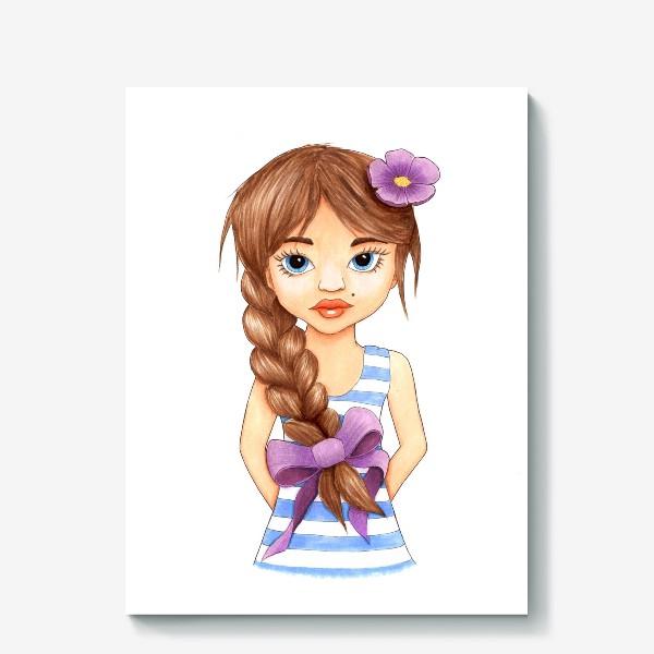 Холст «Девочка с косой»