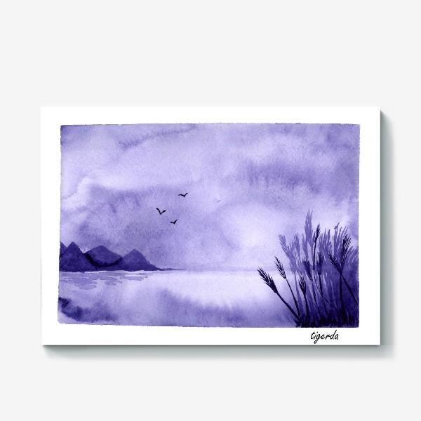 Холст «Озеро. Пейзаж»