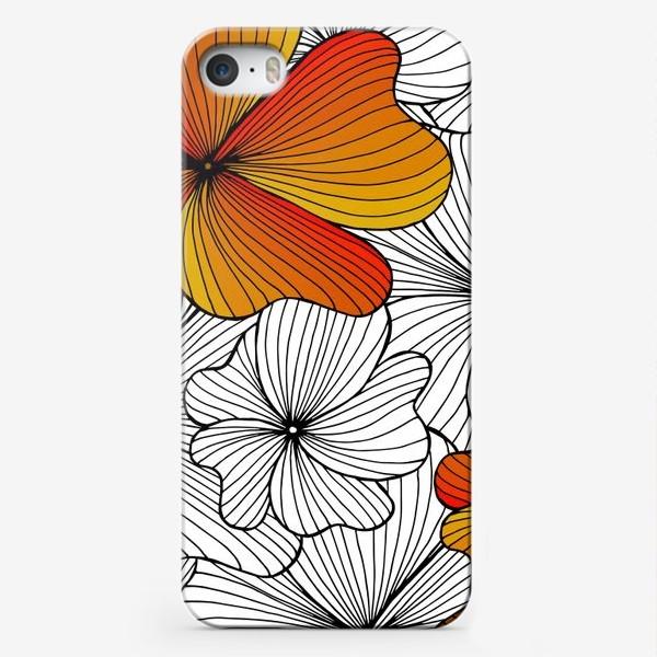 Чехол iPhone «Осенние оранжевые цветы»