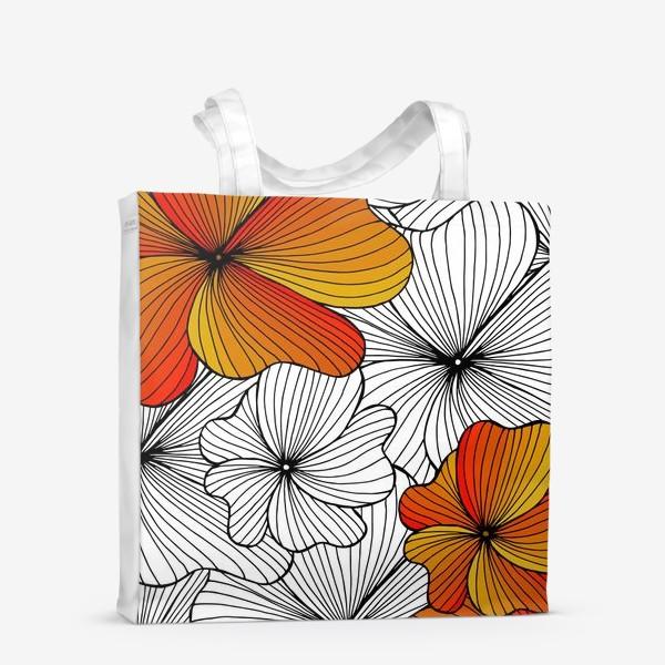 Сумка-шоппер «Осенние оранжевые цветы»