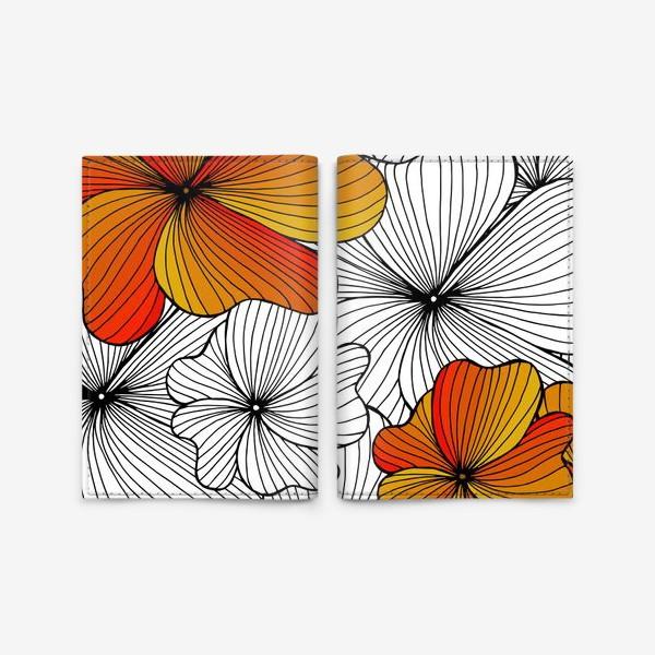 Обложка для паспорта «Осенние оранжевые цветы»