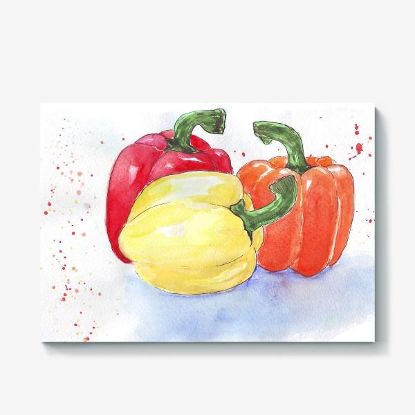 Холст «Яркие перцы»
