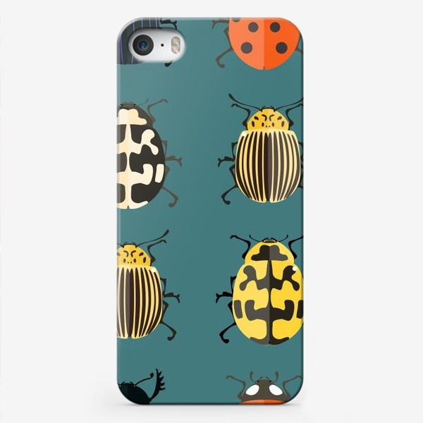 Чехол iPhone «Цветные жуки»