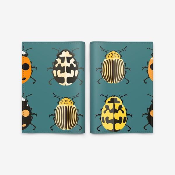 Обложка для паспорта «Цветные жуки»