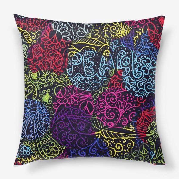 Подушка «Love & peace»