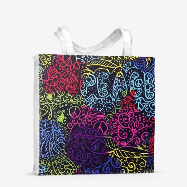 Сумка-шоппер «Love & peace»