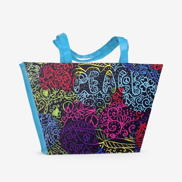 Пляжная сумка «Love & peace»