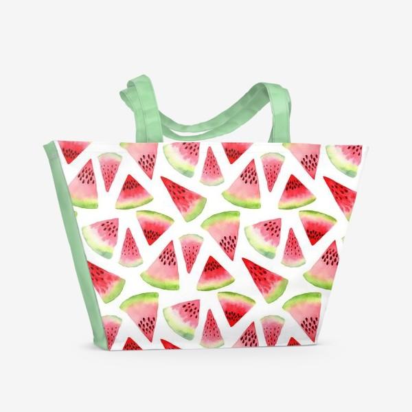 Пляжная сумка «Арбузы карапузы»