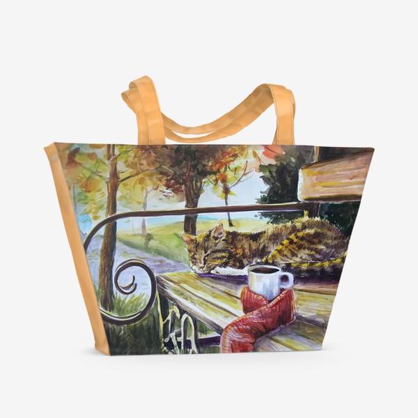 Пляжная сумка «Осеннее тепло»