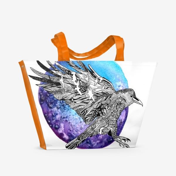 Пляжная сумка «Ворон»