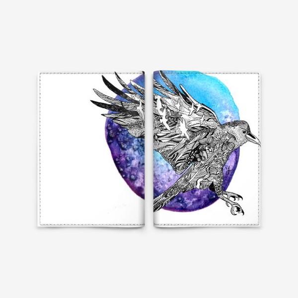 Обложка для паспорта «Ворон»