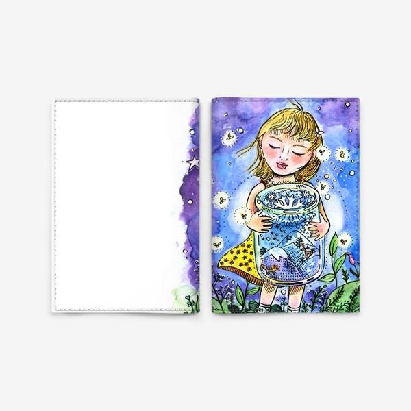 Обложка для паспорта «Девочка и зима в банке»