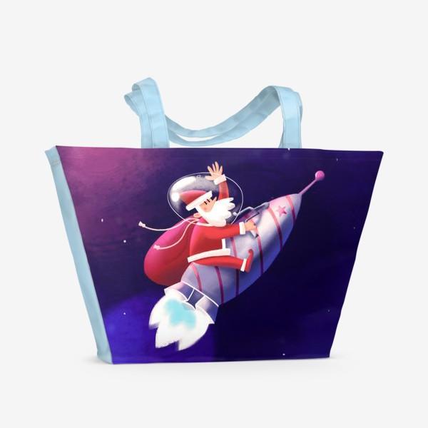 Пляжная сумка «Дед Мороз»