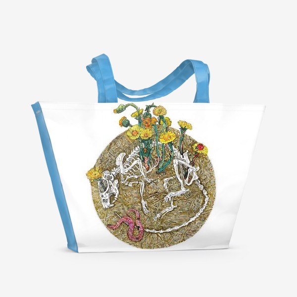 Пляжная сумка «Мать-и-мачеха.»