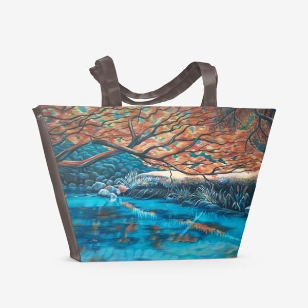 Пляжная сумка «Осенний пейзаж.»